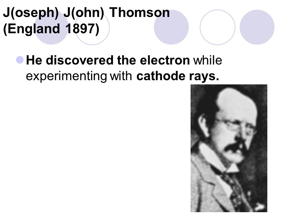 J(oseph) J(ohn) Thomson (England 1897)