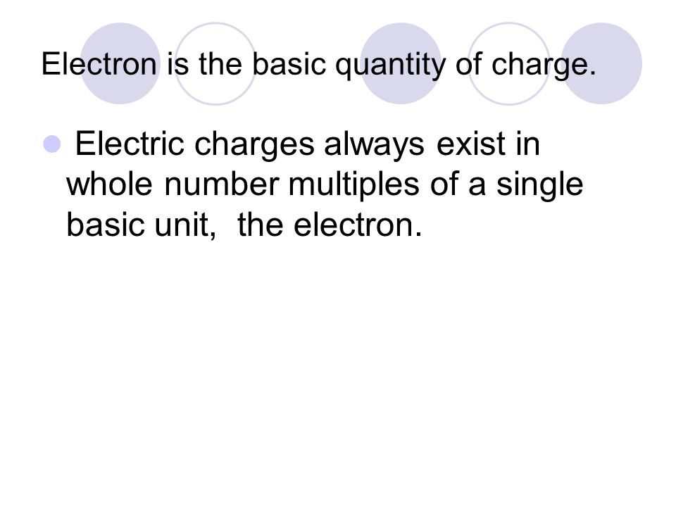 Electron is the basic quantity of charge.