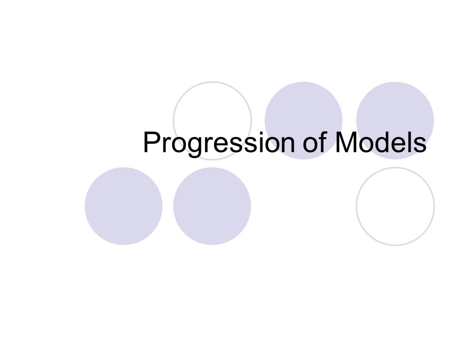 Progression of Models