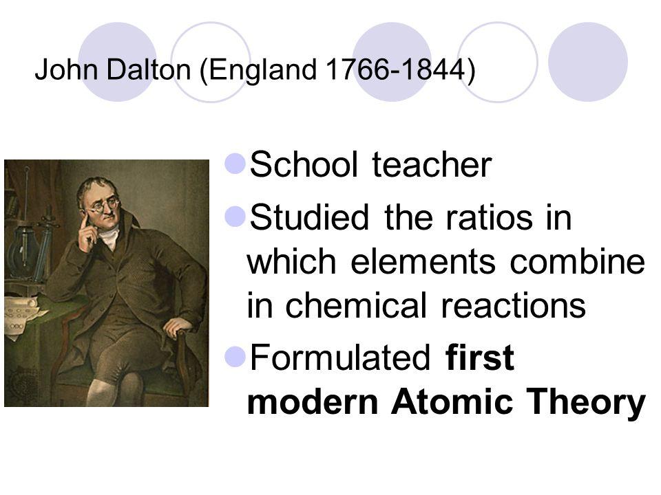John Dalton (England 1766-1844)