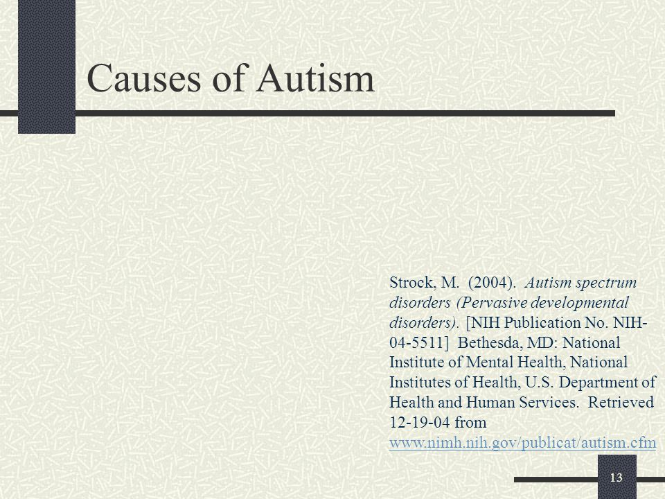Causes of Autism