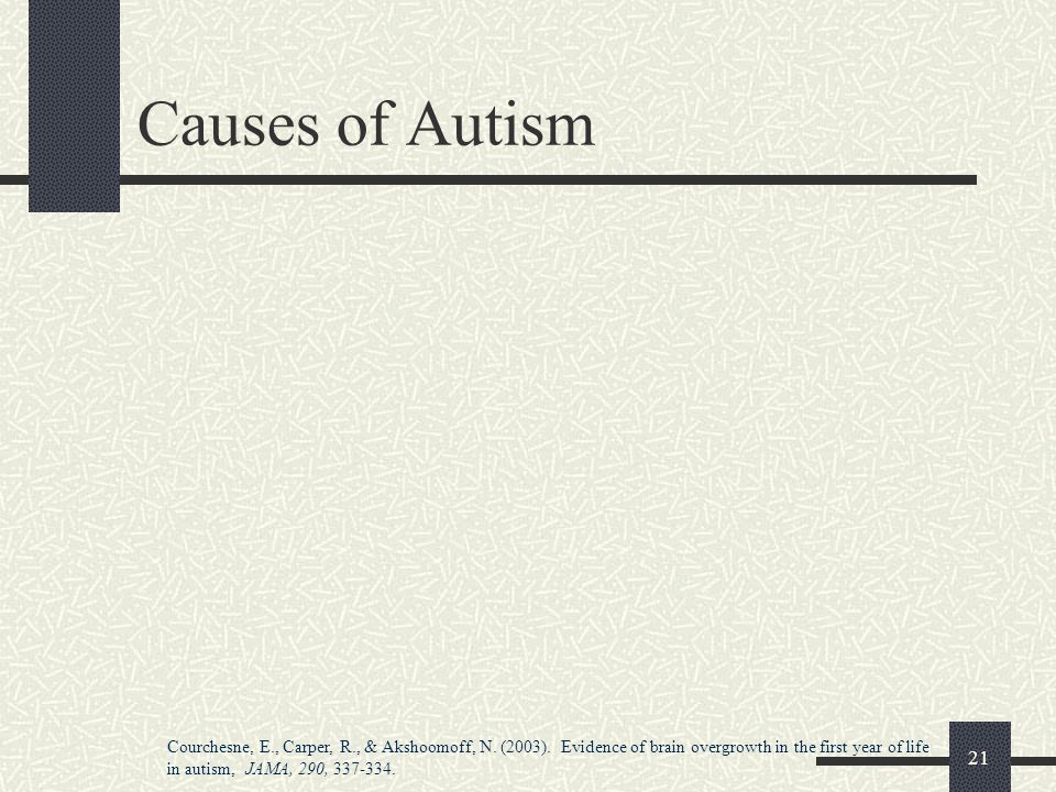 Causes of Autism Not in handout
