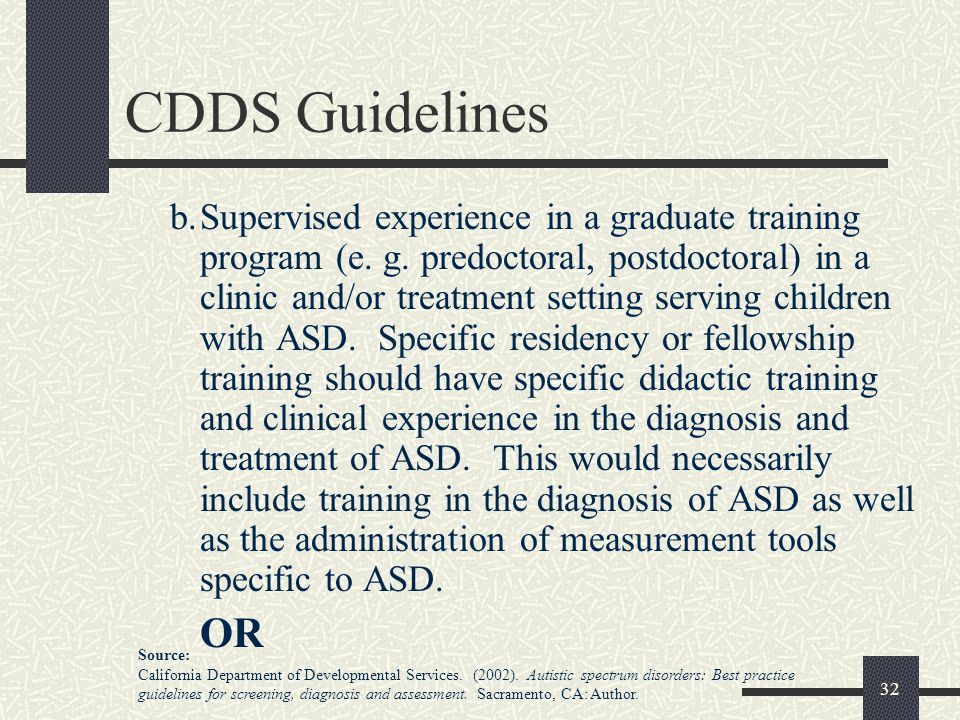 CDDS Guidelines