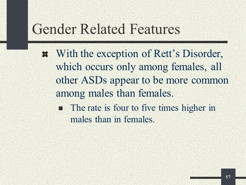 Gender Related Features