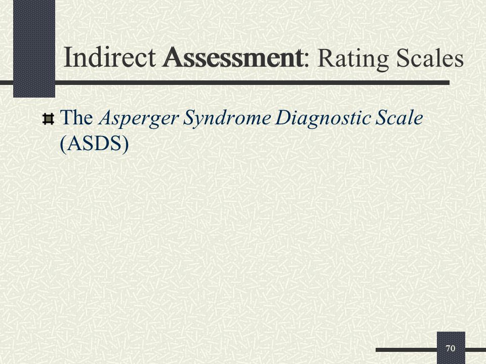 Indirect Assessment: Rating Scales