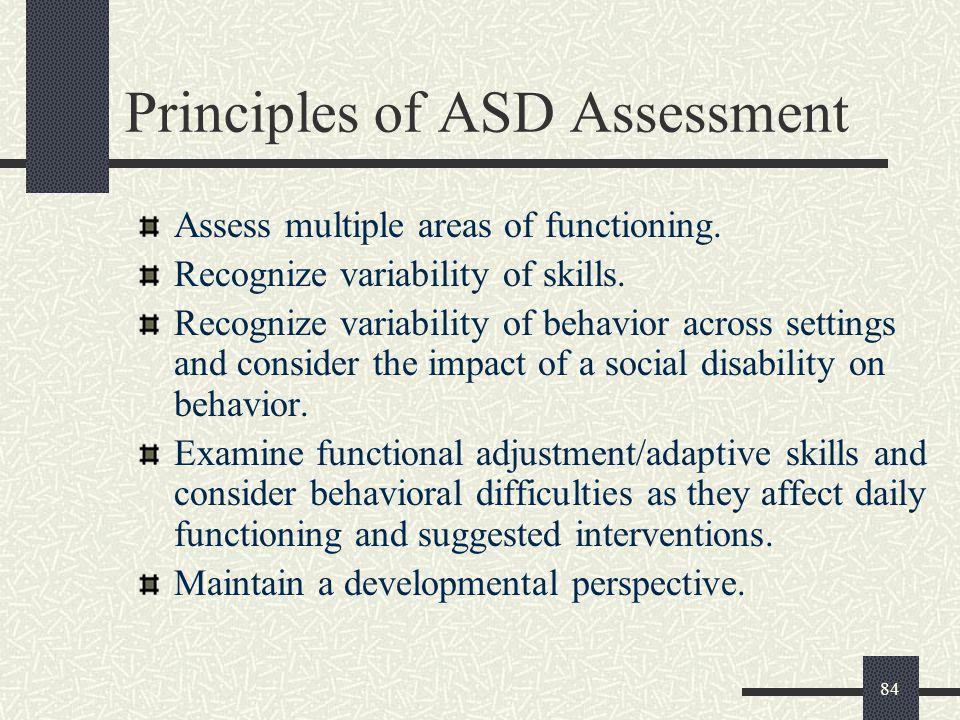 Principles of ASD Assessment