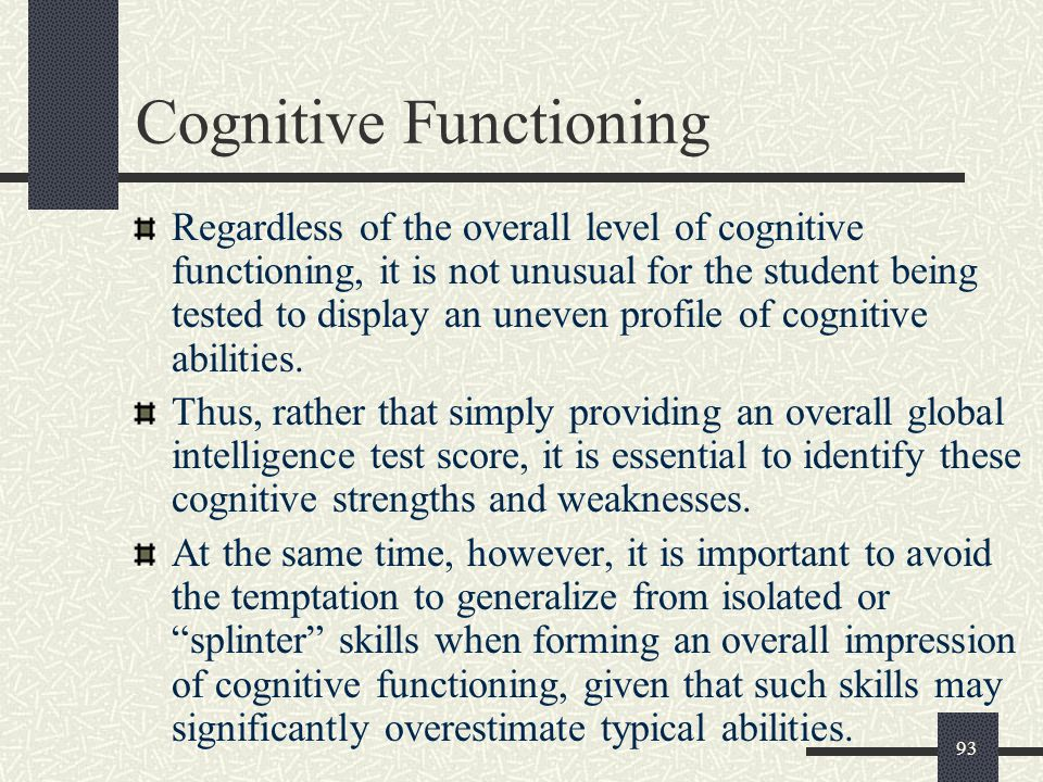 Cognitive Functioning