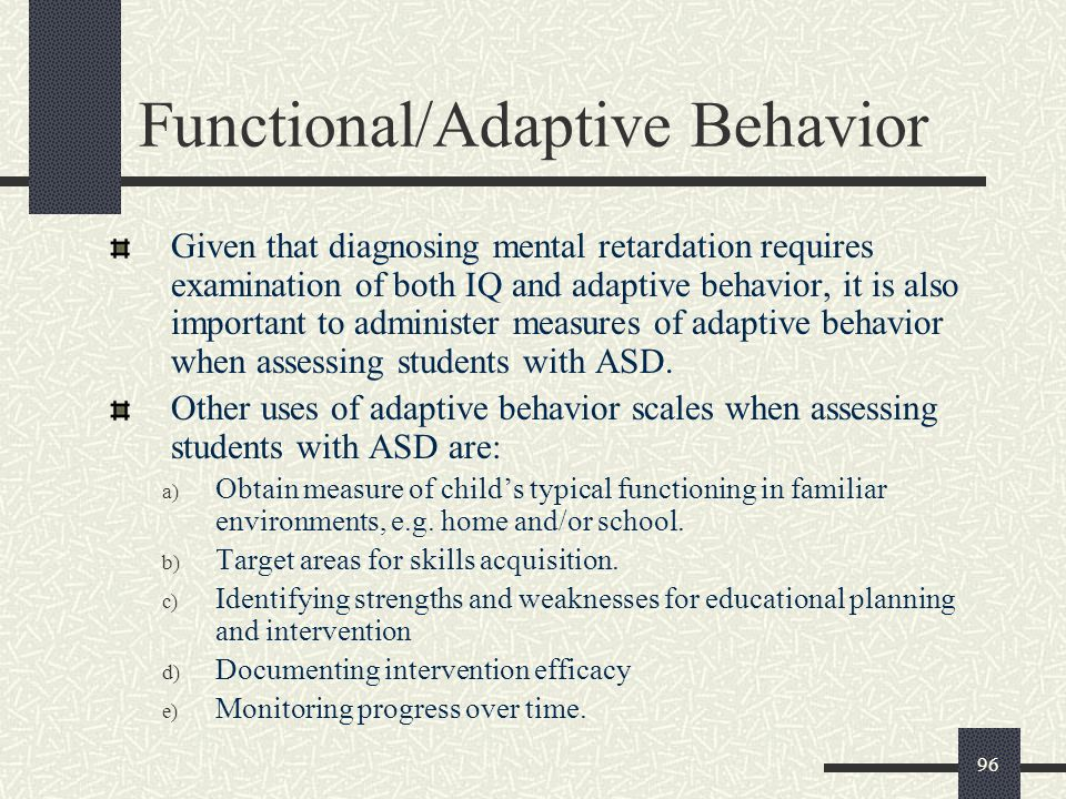 Functional/Adaptive Behavior