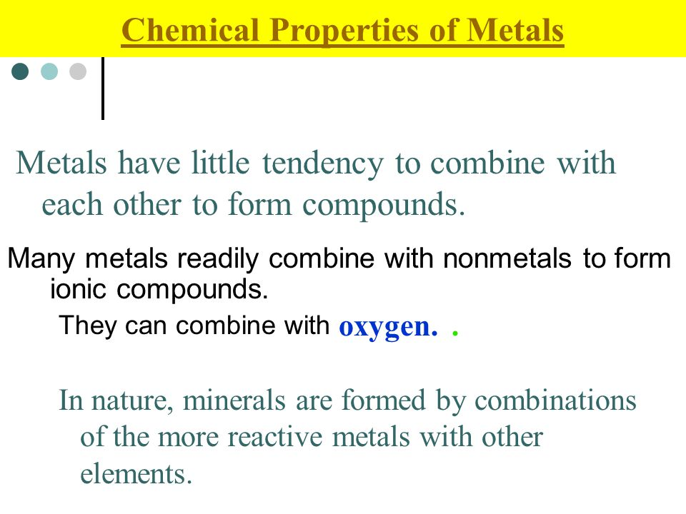 chemical properties of metals non metal