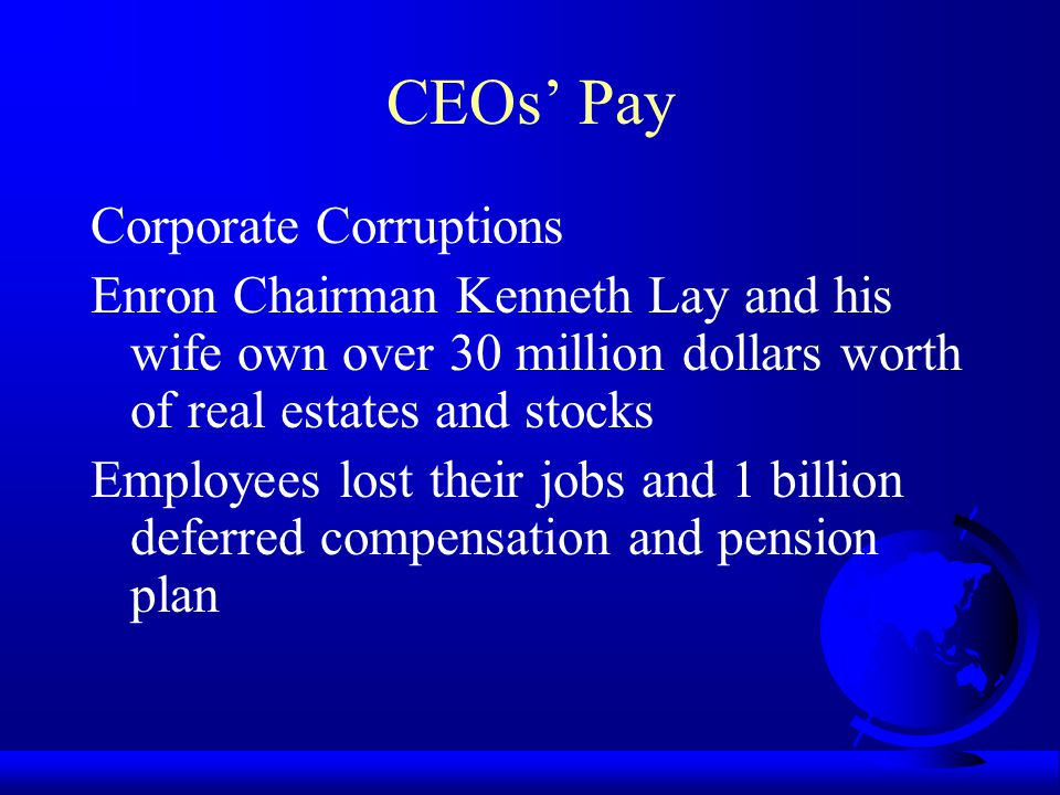 CEOs' Pay Corporate Corruptions