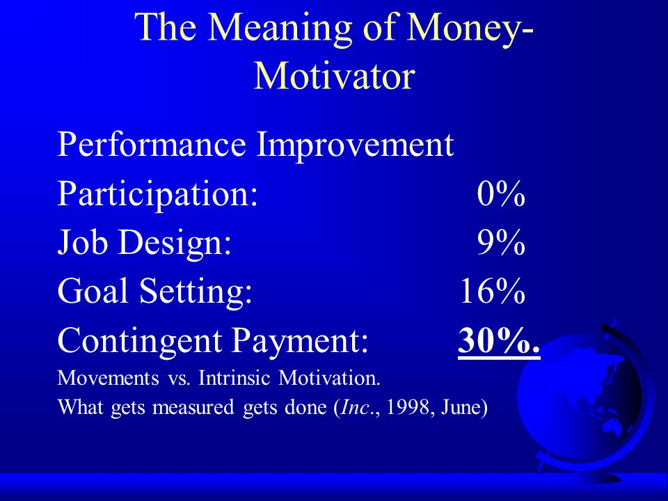 The Meaning of Money-Motivator