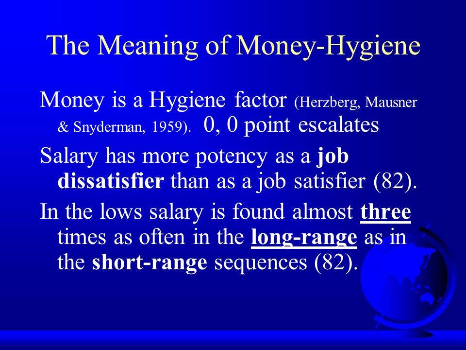 The Meaning of Money-Hygiene
