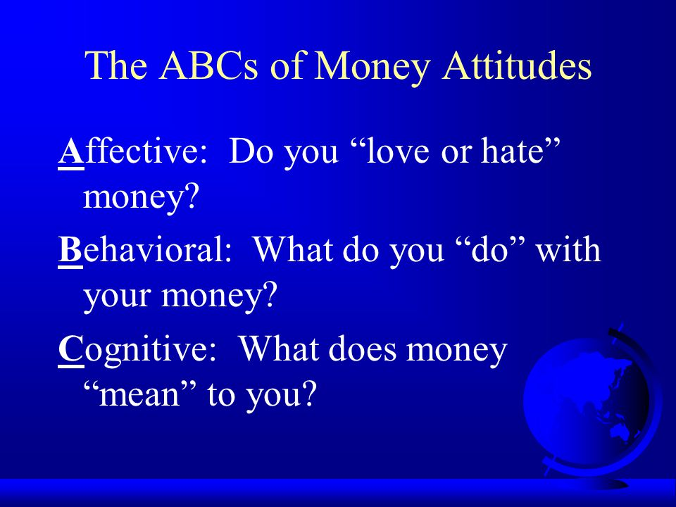 The ABCs of Money Attitudes