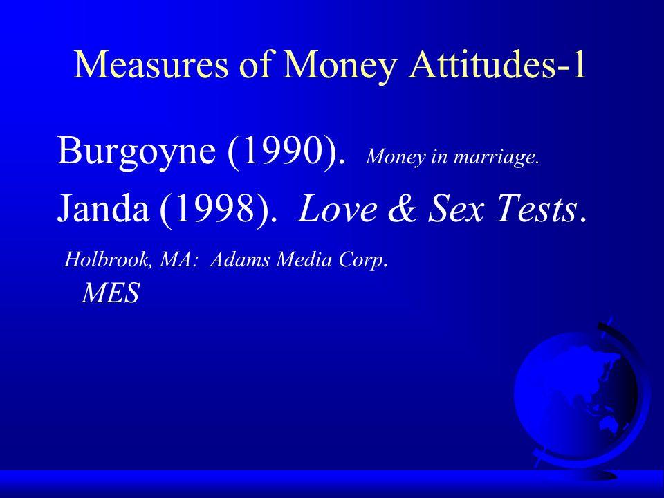 Measures of Money Attitudes-1