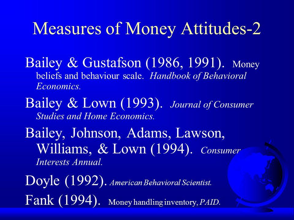 Measures of Money Attitudes-2