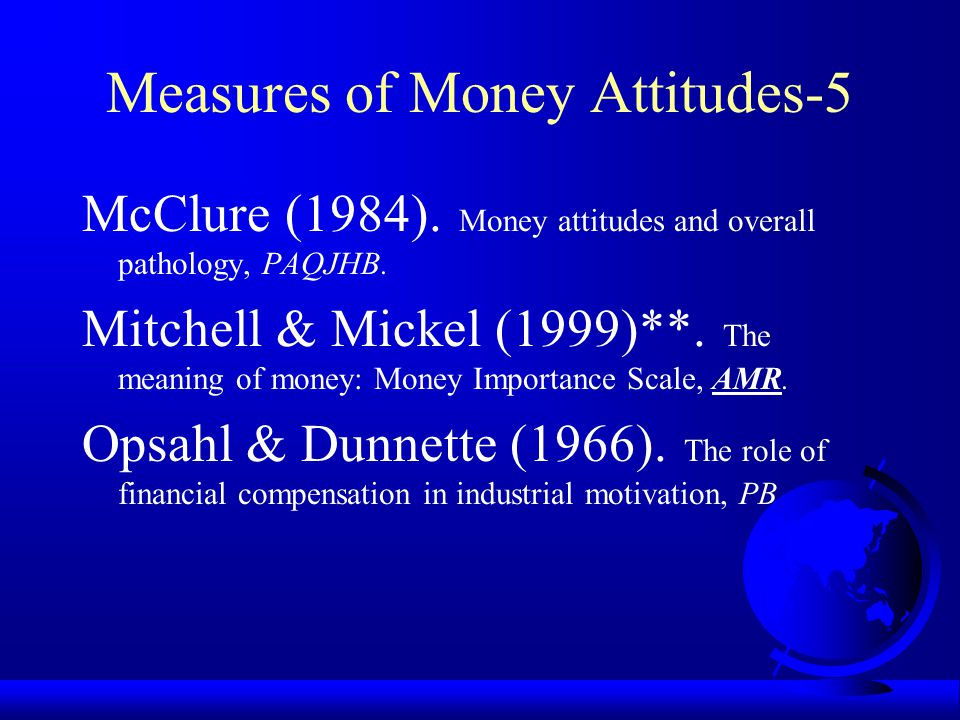 Measures of Money Attitudes-5