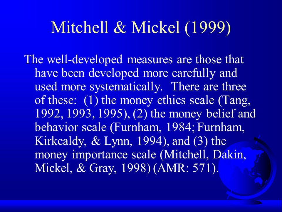 Mitchell & Mickel (1999)