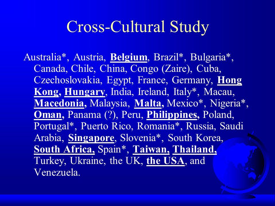Cross-Cultural Study
