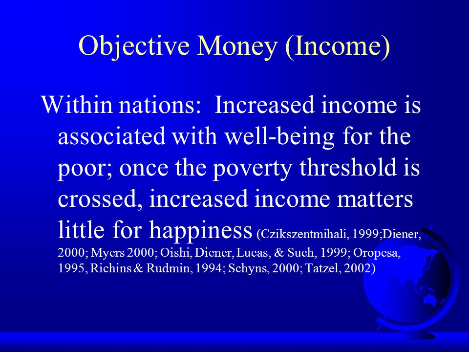 Objective Money (Income)