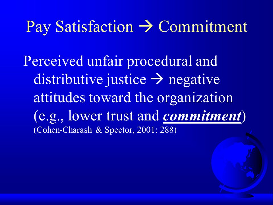 Pay Satisfaction  Commitment