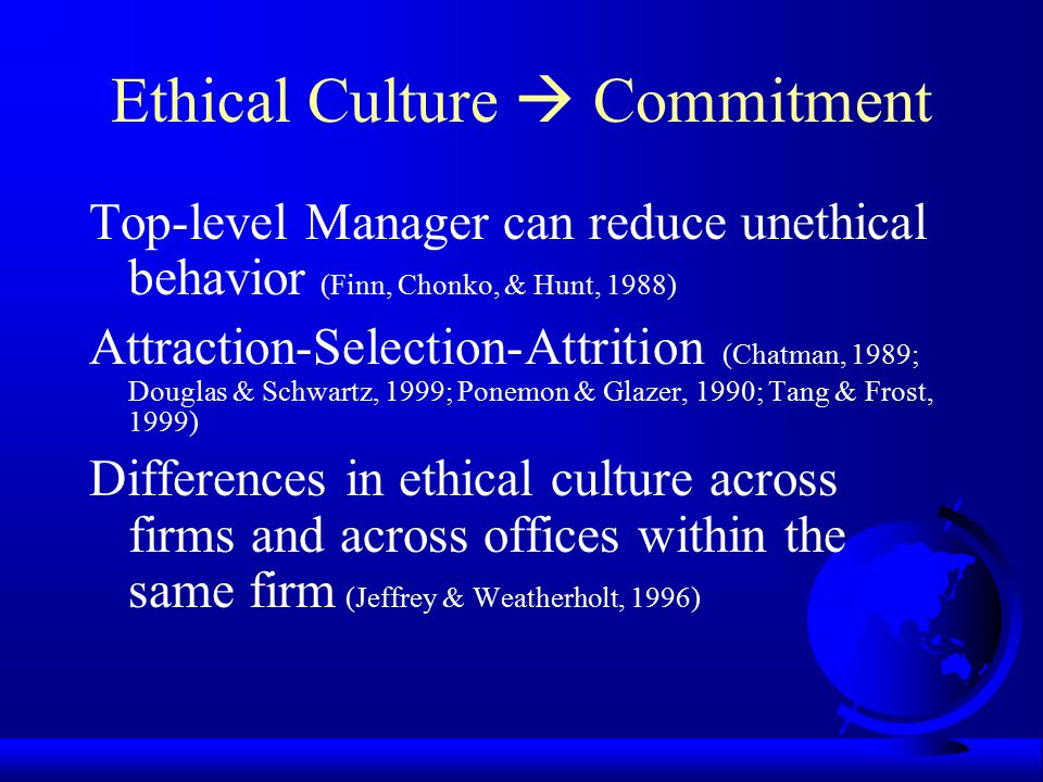 Ethical Culture  Commitment