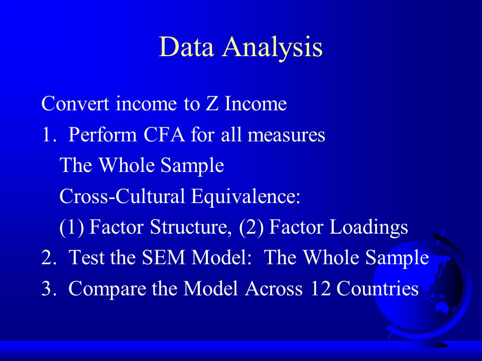 Data Analysis Convert income to Z Income