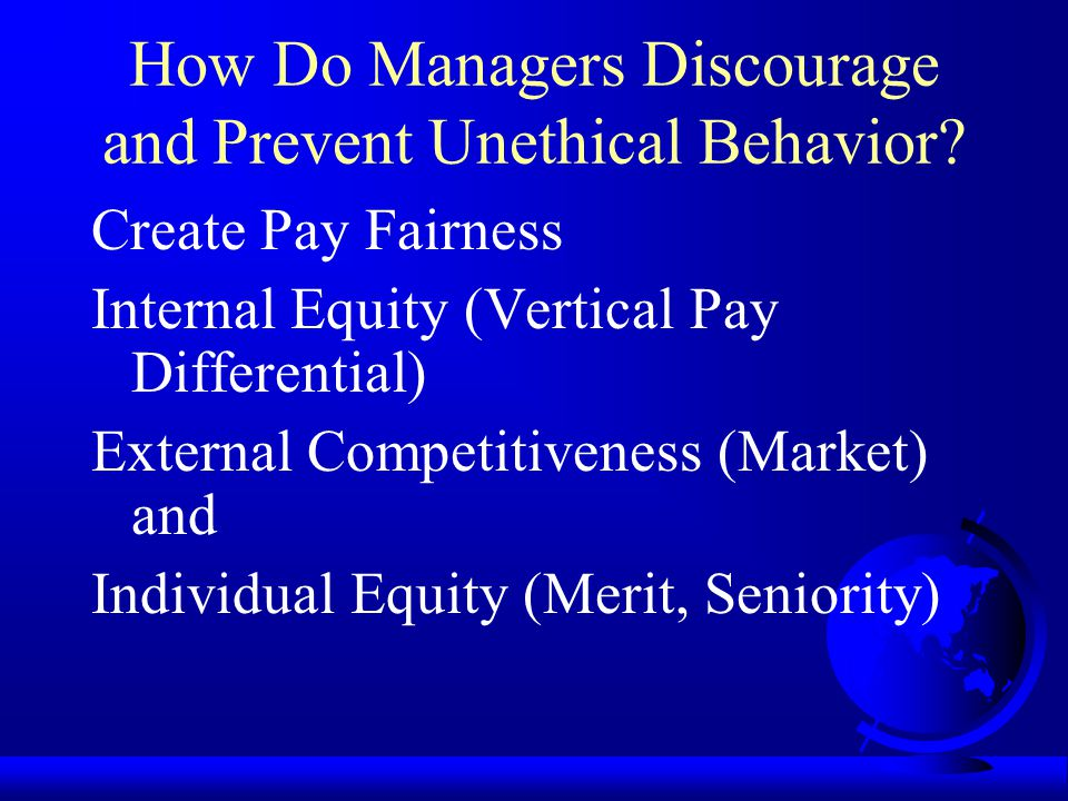How Do Managers Discourage and Prevent Unethical Behavior
