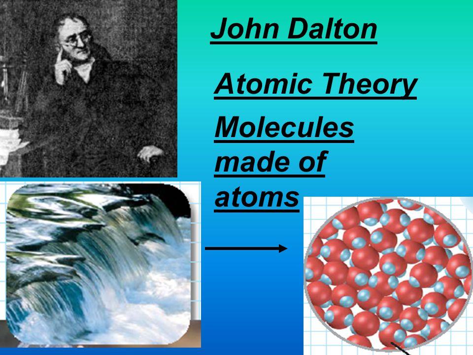 Molecules made of atoms
