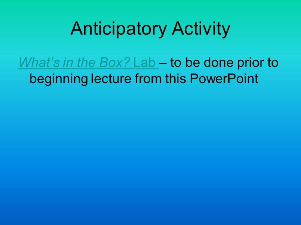Anticipatory Activity