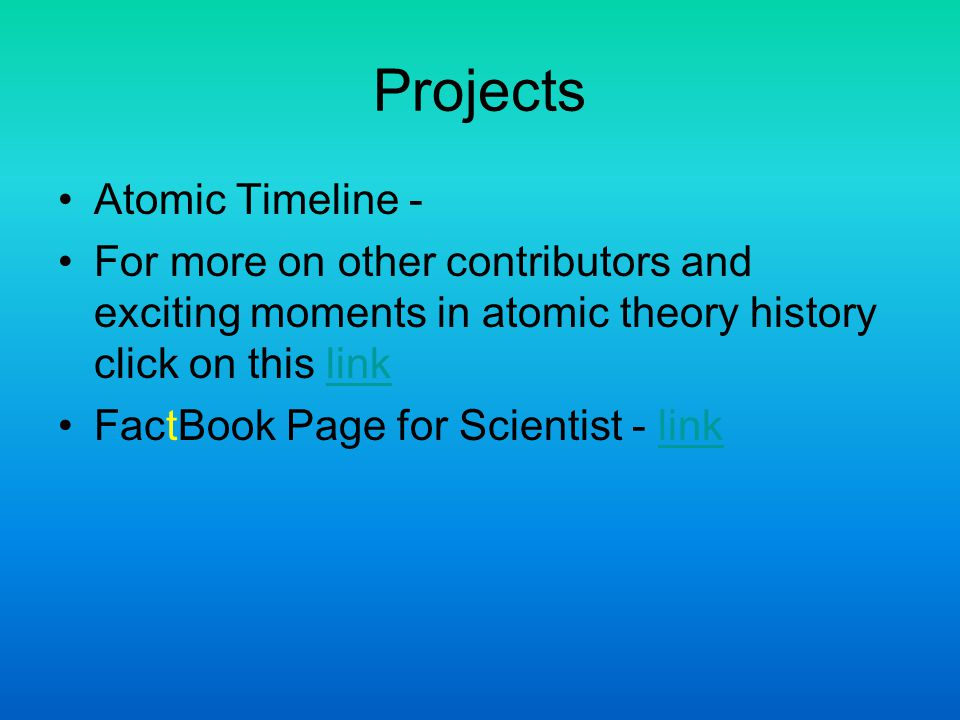 Projects Atomic Timeline -