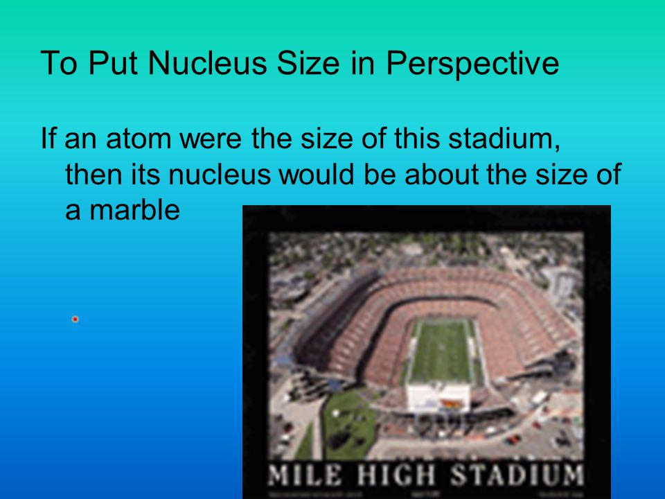 To Put Nucleus Size in Perspective