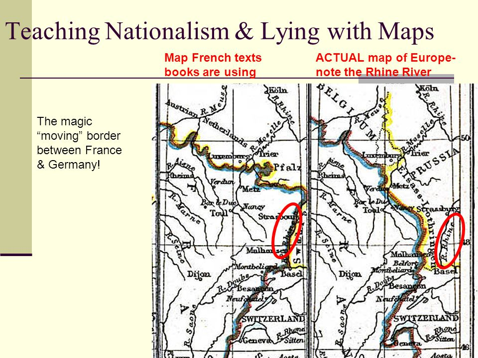 Teaching Nationalism & Lying with Maps