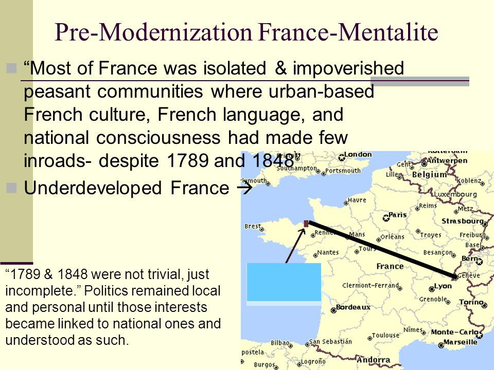 Pre-Modernization France-Mentalite