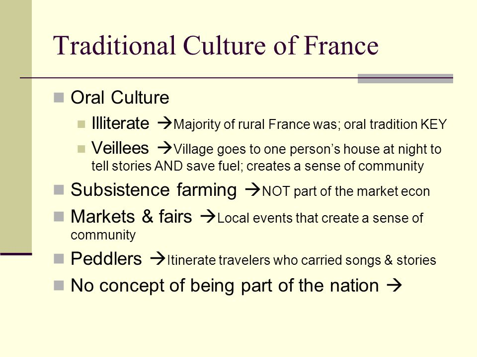 Traditional Culture of France