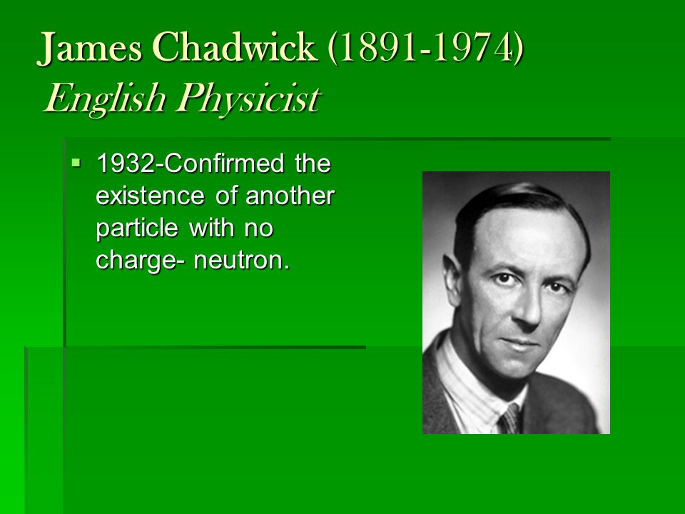 James Chadwick (1891-1974) English Physicist