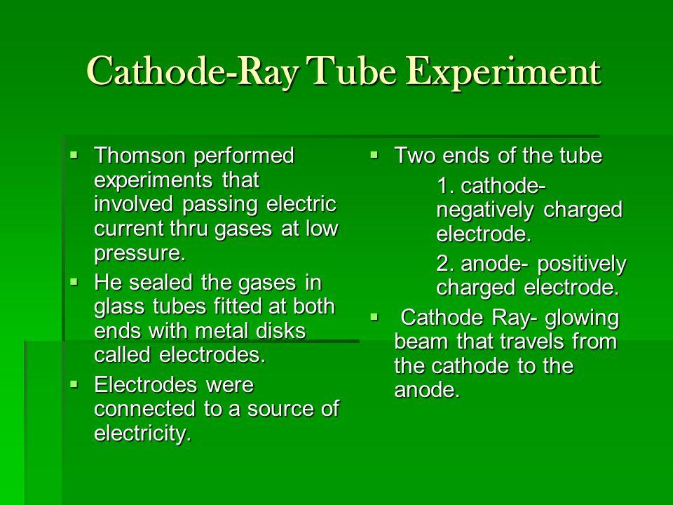 Cathode-Ray Tube Experiment