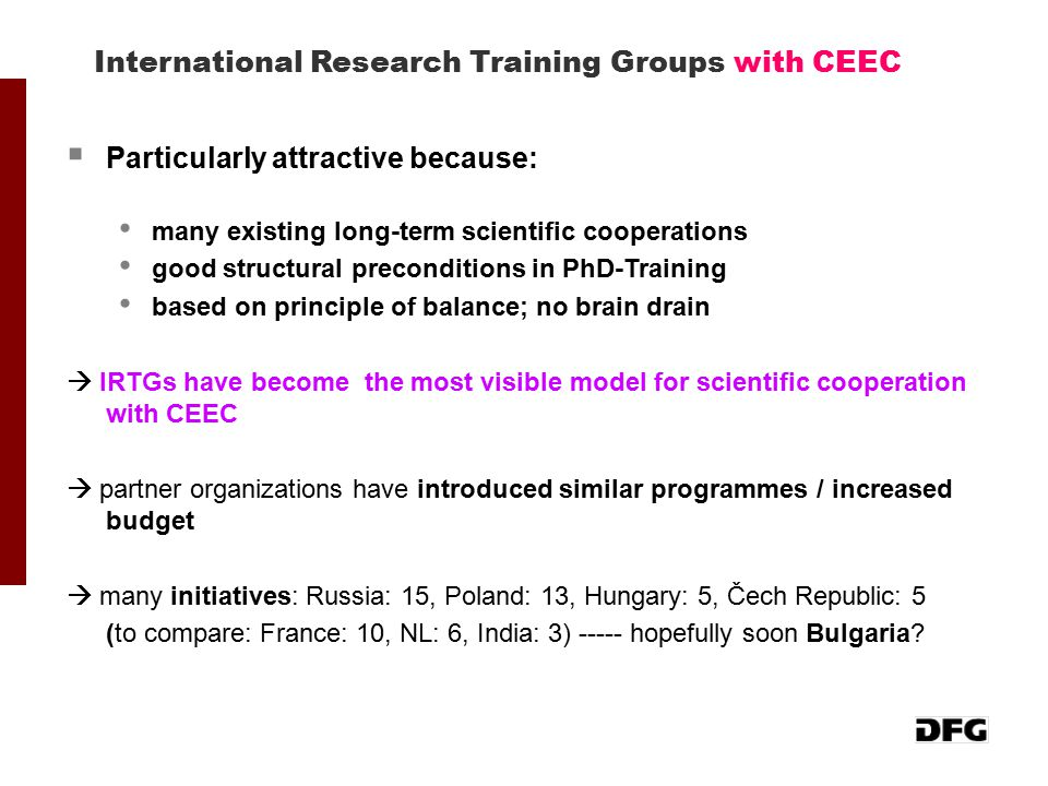 International Research Training Groups with CEEC