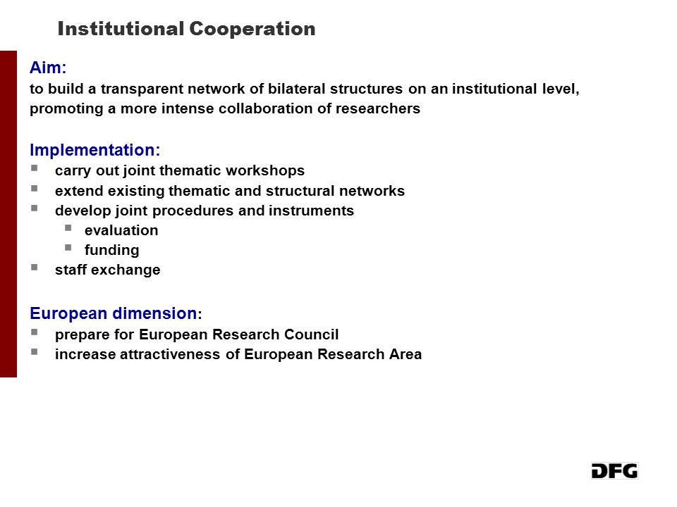Institutional Cooperation