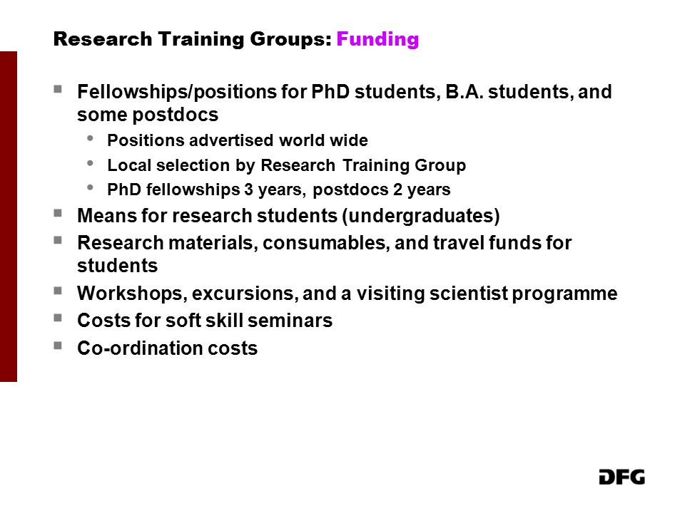Research Training Groups: Funding