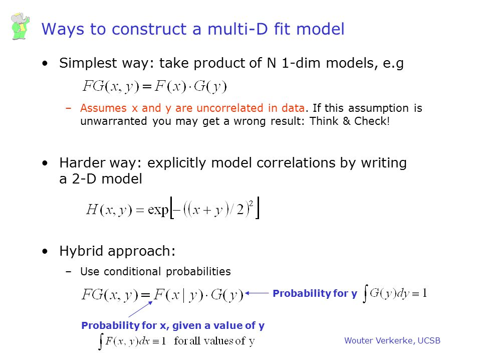 Ways to construct a multi-D fit model