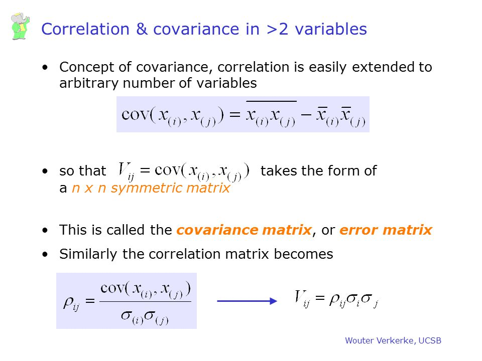 Correlation & covariance in >2 variables