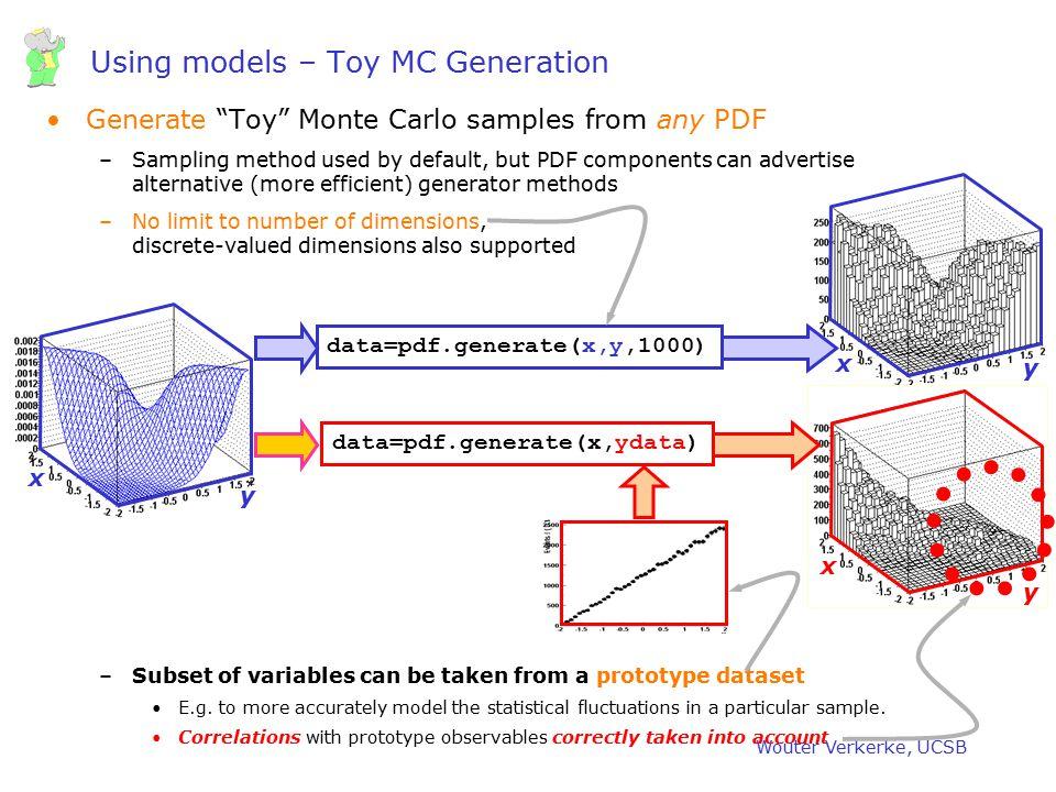 Using models – Toy MC Generation