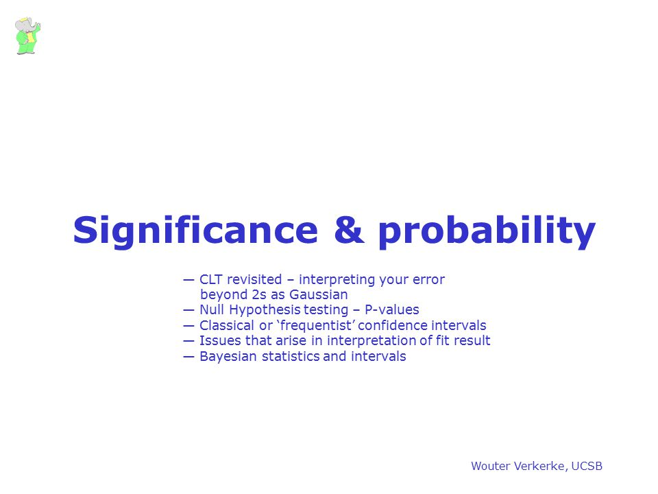 Significance & probability