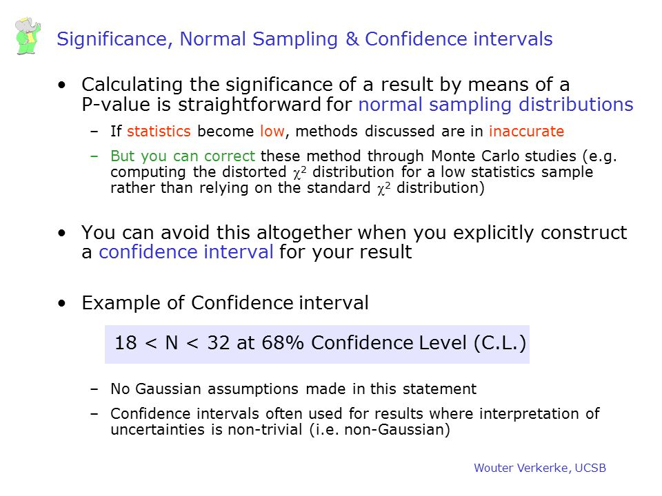 Significance, Normal Sampling & Confidence intervals