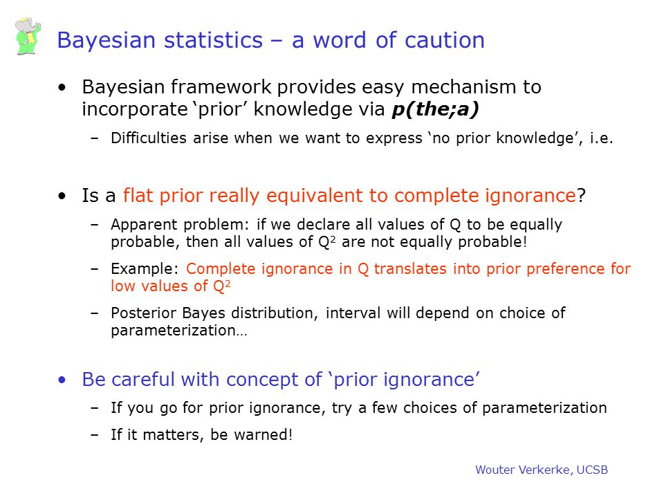 Bayesian statistics – a word of caution