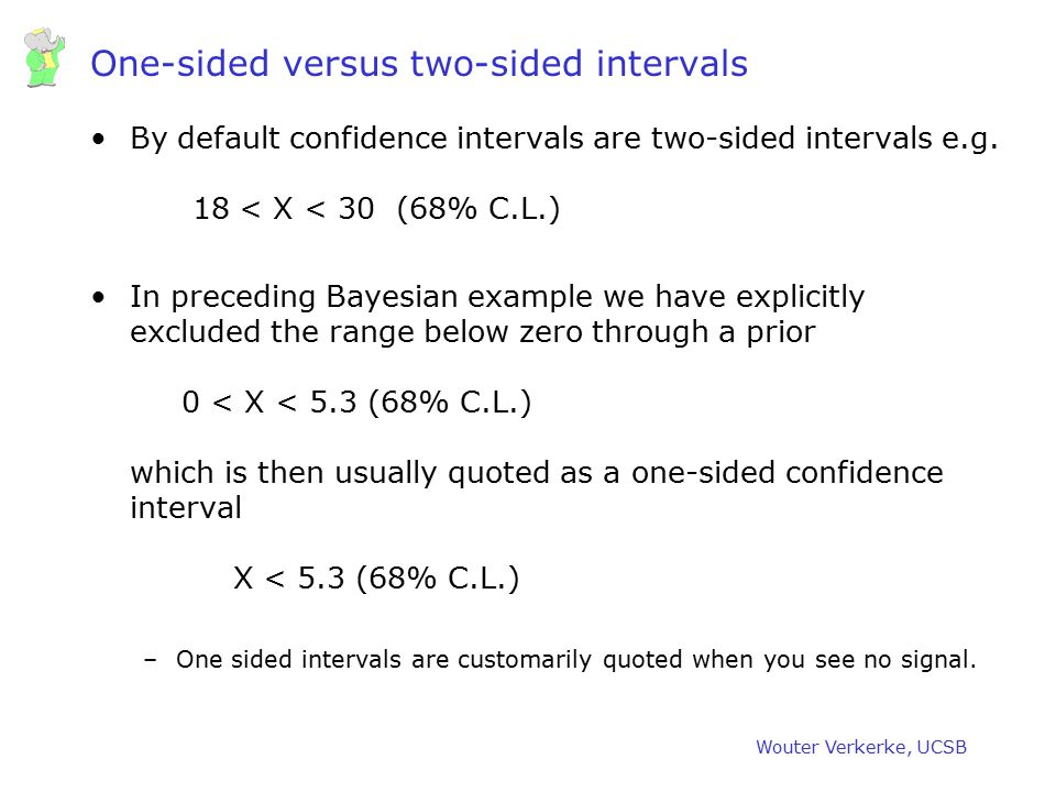 One-sided versus two-sided intervals