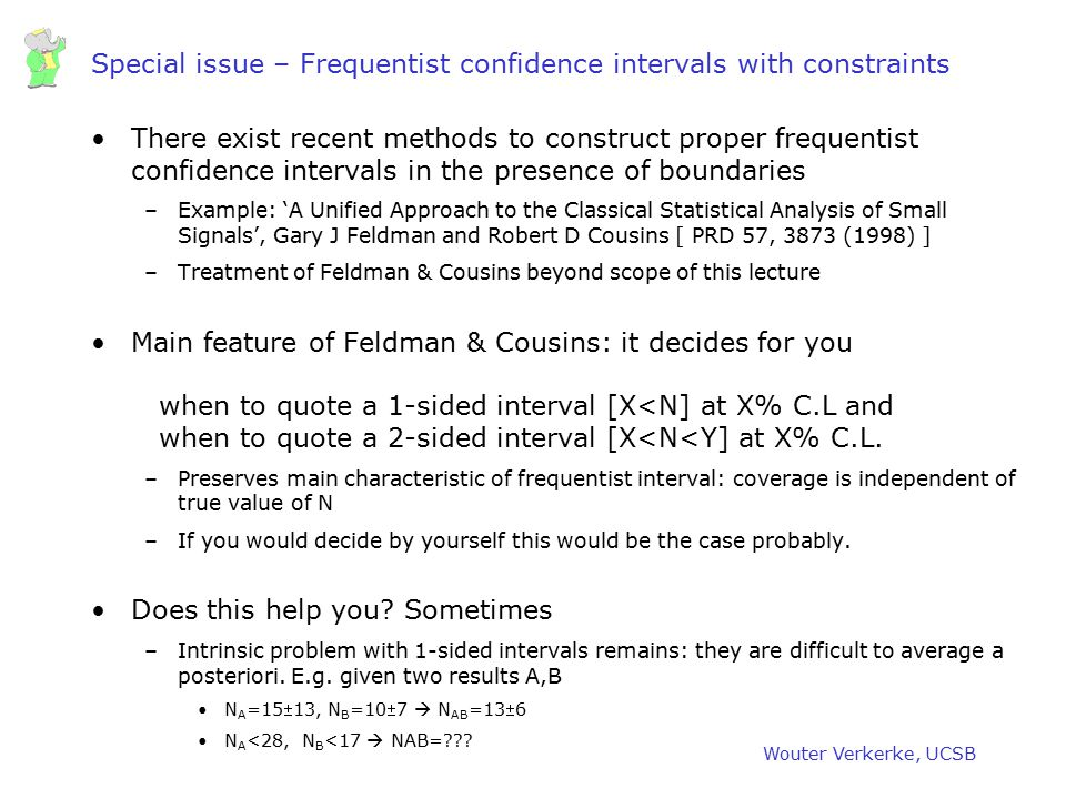 Special issue – Frequentist confidence intervals with constraints