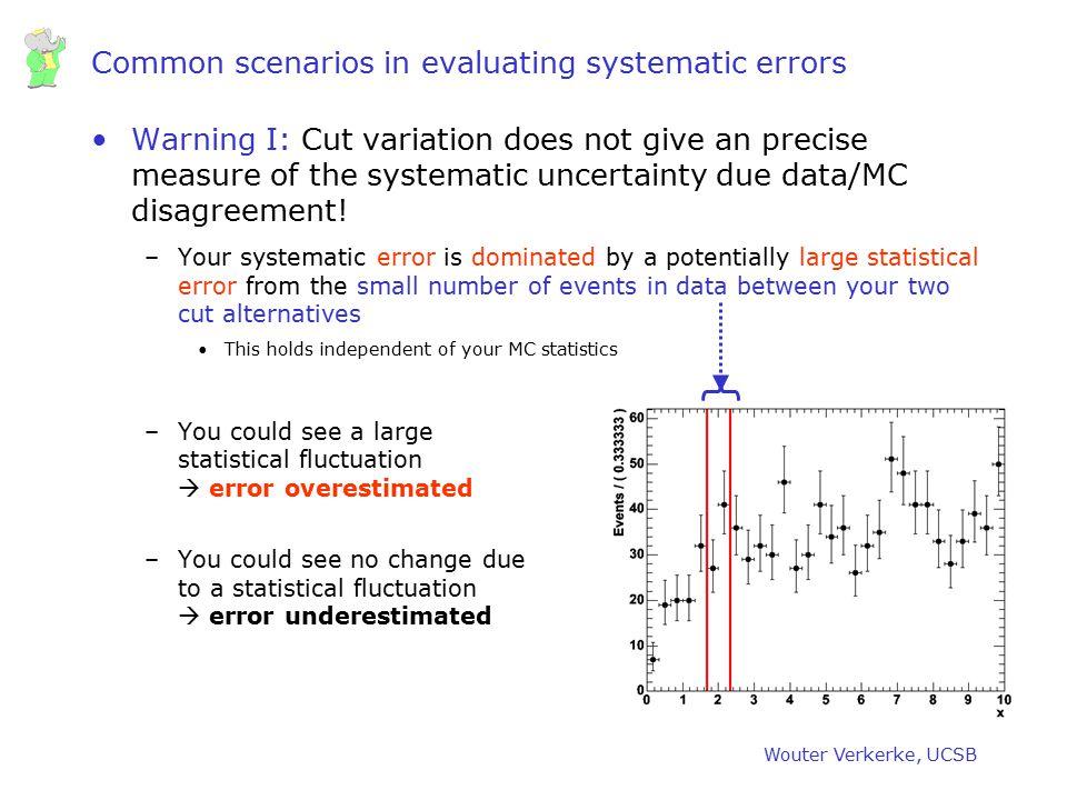 Common scenarios in evaluating systematic errors