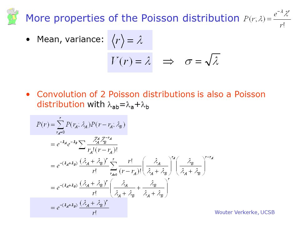 More properties of the Poisson distribution
