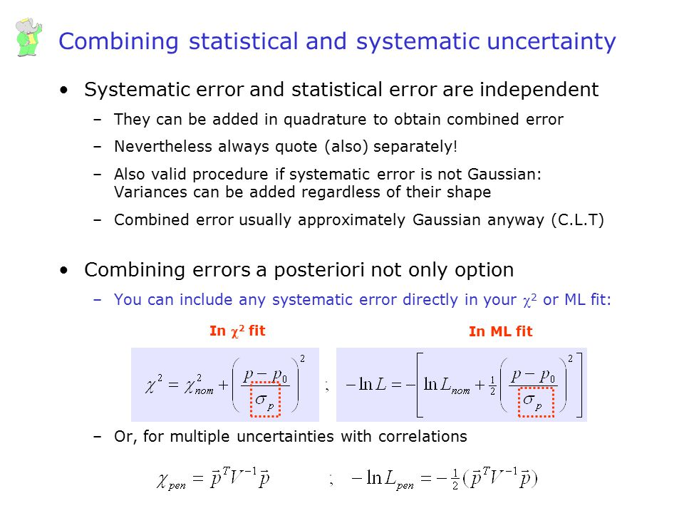 Combining statistical and systematic uncertainty